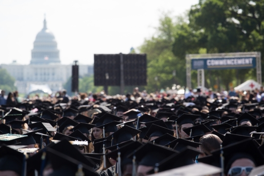 Commencement in front of the US Capitol building